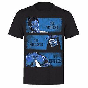 Big-trouble-en-Little-China-Azul-Motif-Jack-Burton-Unisex-Negro-PH36-T-Shirt