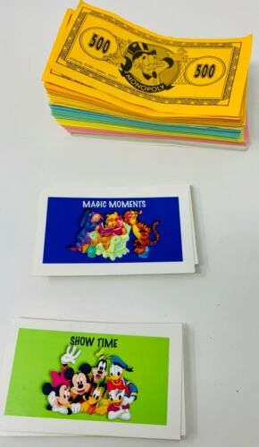 Monopoly Disney Edition Collectible Movers Cards Money REPLACEMENT PARTS