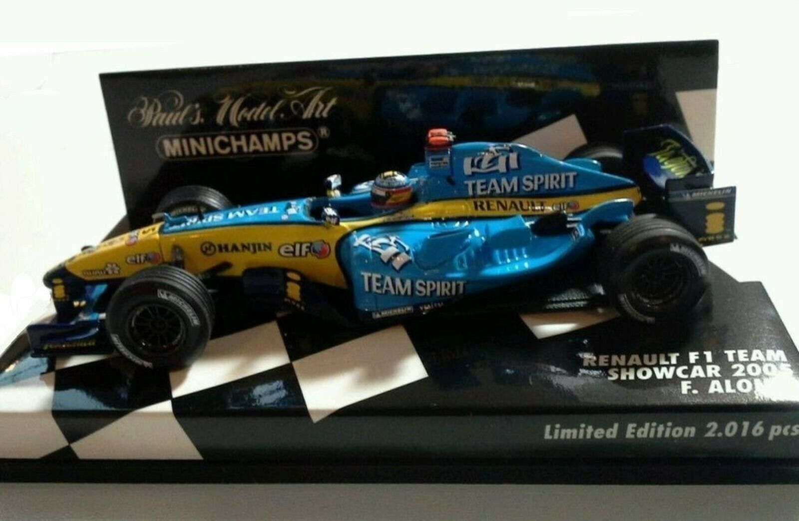 WOW EXTREMELY RARE Renault R25 Fer Alonso Grimaldi Show 2005 1 43 Minichamps