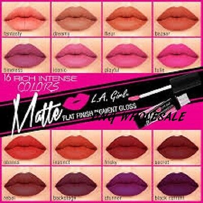 You pick 5 L.A L.A. Girl Matte Finish Lip Gloss LIPSTICK Long Lasting Formular