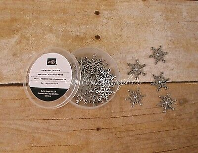 Stampin Up ALL IS CALM SNOWFLAKE embellishments NEW metal Charm