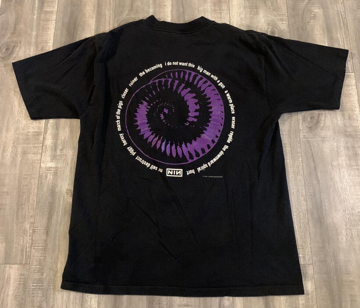 Vintage 1994 Nine Inch Nails Downward Spiral T Sh… - image 1