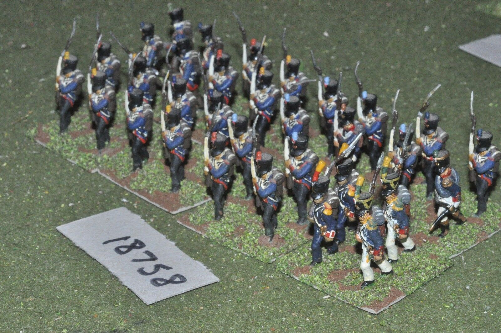 25mm napoleonic   french - infantry 32 figs - inf (18758)