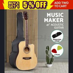 ALPHA-41-Inch-Wooden-Acoustic-Guitar-Classical-Folk-Full-Size-Dreadnought-Bag
