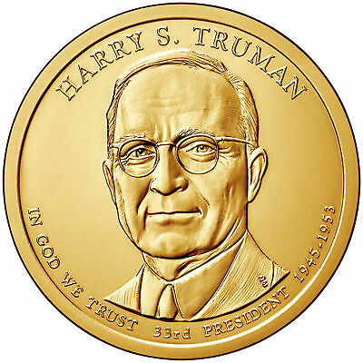 2015 D Denver United States Mint Harry S Truman PRESIDENTIAL $1 Coins $25 Roll