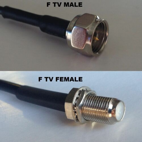 RG58 F TV MALE RADIO to F TV FEMALE Coaxial RF Pigtail Cable USA