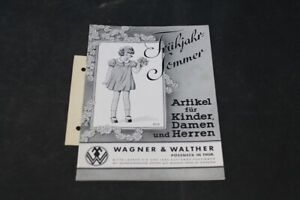 Age Print Advertising Catalog Spring Summer Wagner Walther Vintage