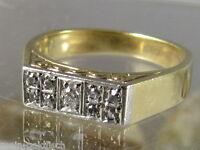 Antiker Diamant Ring 585er Gold mit 9 Diamanten ca 0,12 ct VS-P/W-LGW Zertifikat