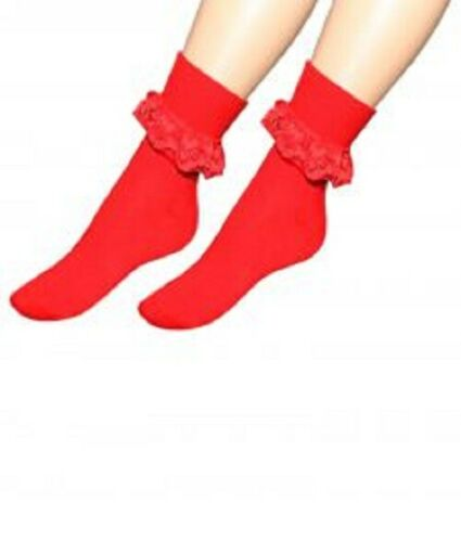 ANKLE LACE SOCKS KIDS GIRLS LADIES  Sports Fashion  WITH FRILL WOMENS COTTON