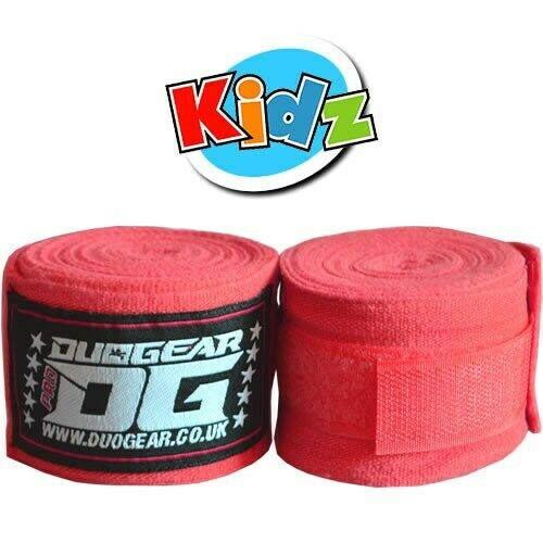 KIDS YOUTH JUNIOR RED DUO GEAR MARTIAL ARTS SPORTS HAND WRAPS 1.5m