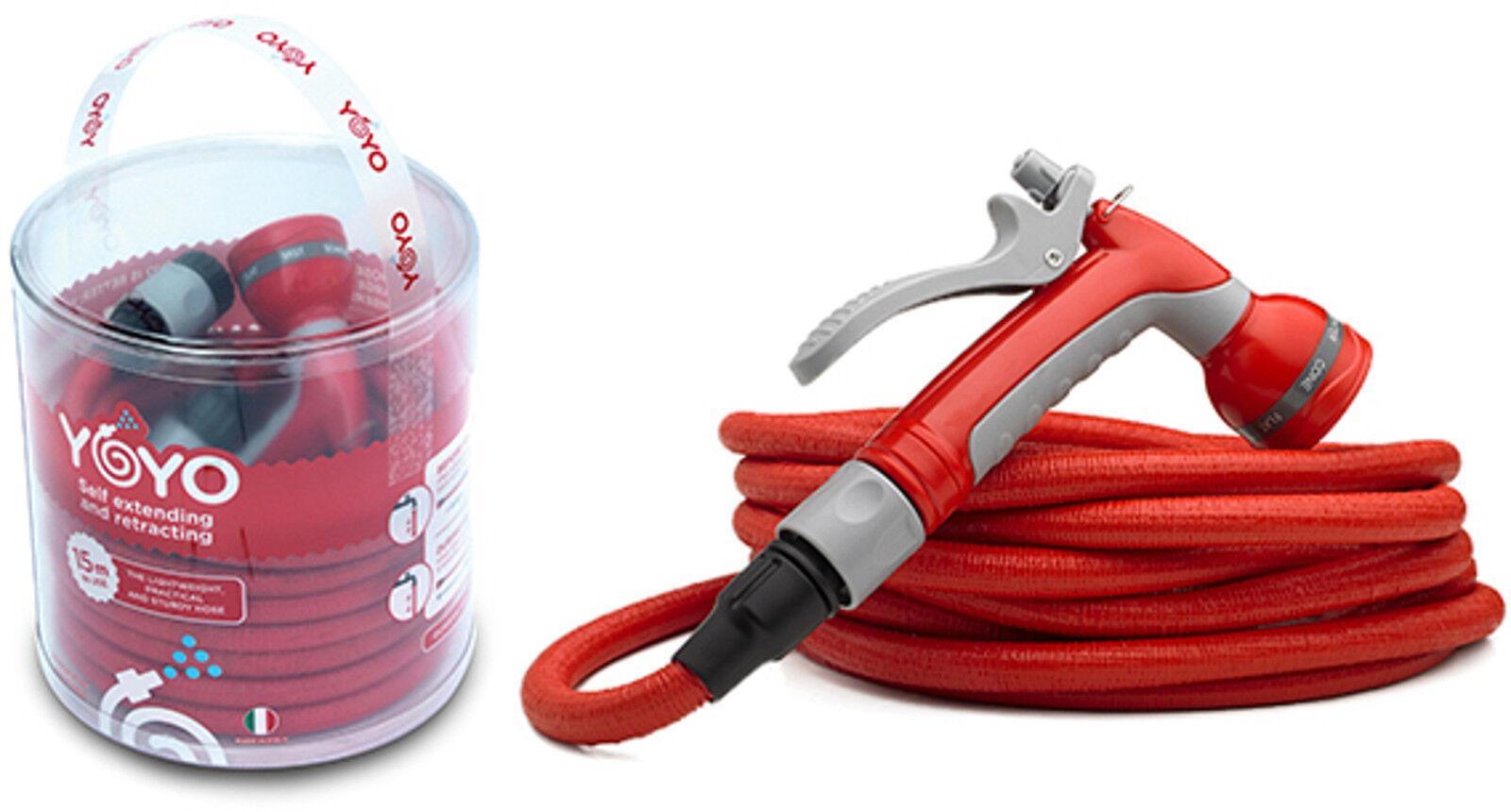 Set tubo per innaffiare Fitt YoYo mt 15 mt 20 mt 30 con lancia e raccordi
