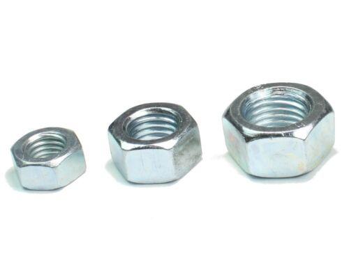 M2,5 DIN 934 Sechskantmuttern verzinkte Sechskant Muttern galvanisch 20-500Stück