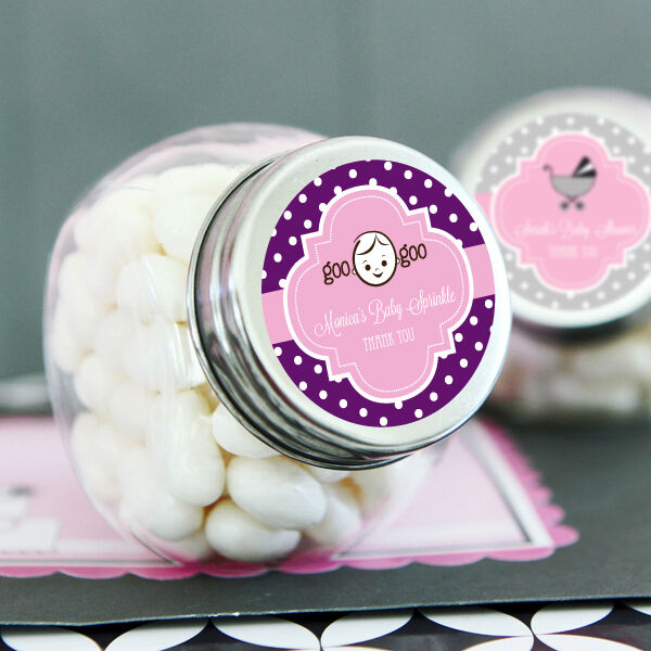 48 Personalized Baby Shower Candy Jars Favors Lot