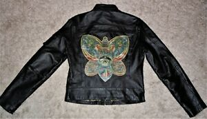 Vintage-Wilson-ROCK-AND-ROLL-FASHION-Black-Leather-Jacket-SMALL