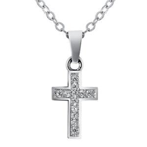 1PC-Women-Silver-Crystal-Rhinestone-Cross-Necklace-Pendant-Chain-Jewelry