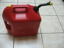 New Listing Pre Ban Blitz 5 Gallon Vented Gas Can Self Venting Curved Spoutamp Cap