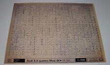 Ersatzteilkatalog auf Microfich Audi A8 / A 8 Typ D2 / D 2 4D quattro ab 1994!