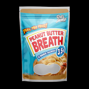 Peanut Butter Breath 3.5g Mylar bags with mylar label 10x 25x 50x Dubz Garden