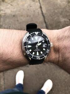 Seiko SRPC35K1 Black Mini Baby Turtle Dive Watch Steel Bracelet - MINT & Boxed