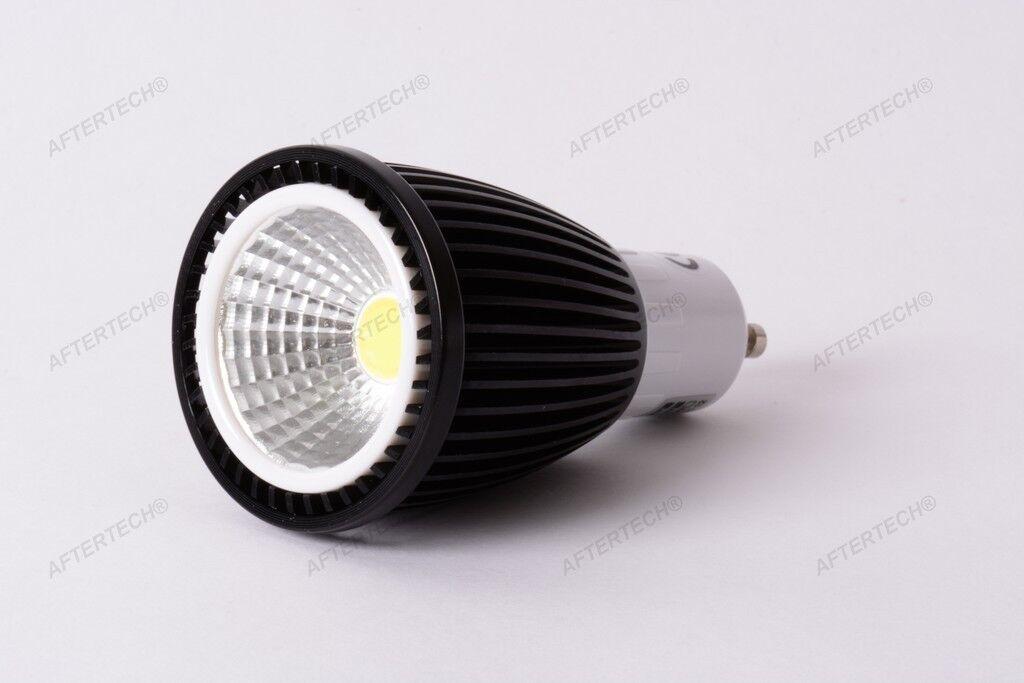 10x COB GU10 7w LAMPADINA LED 120° BIANCO FrotDO 5500k 220V FARETTO DICROICA