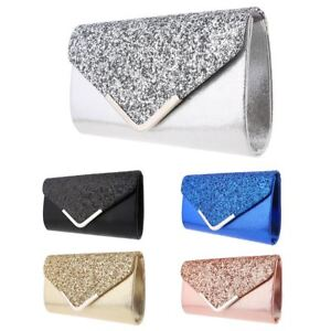 Women-Glitter-Shimmer-Clutch-Bag-Ladies-Wedding-Party-Prom-Glamour-Wedding-Purse