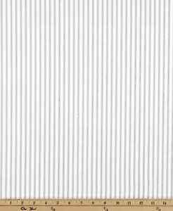 Premier Prints Classic Ticking Storm Fabric Gray And White Stripe