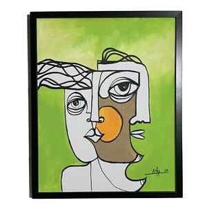PAINTING-ORIGINAL-ACRYLIC-ON-CANVAS-FRAME-INCLUDED-CUBAN-ART-16-X20-By-Lisa