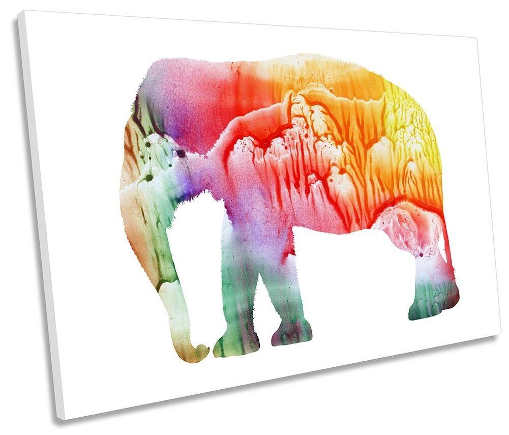 Elefante Astratto Acquerello unico a muro opera d'arte art print