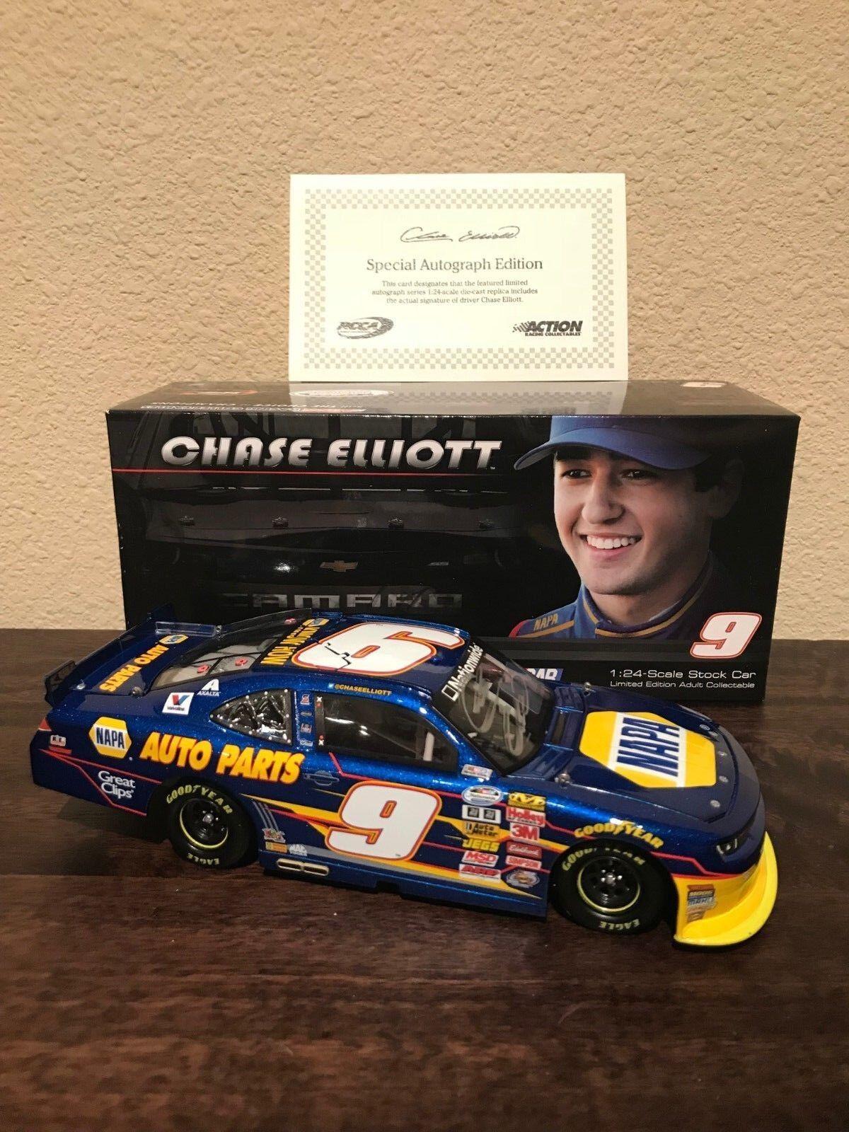 Autographed Autographed Autographed Chase Elliott 1 24 NAPA Action Racing Collectables 07b3e1
