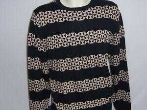 PULL-homme-ras-de-cou-neuf-PUMA-noir-taille-XL-coloris-noir-beige