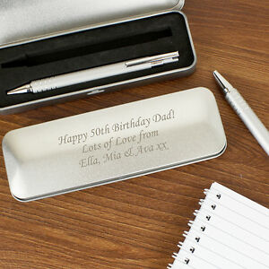 Personalised Engraved Pen & Pencil Tin Box Set Graduation Teacher Birthday Gift Noeratxe-07224145-659850096