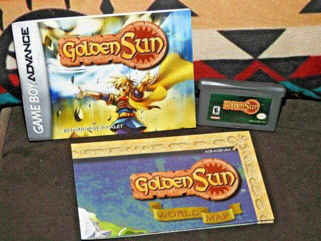 Golden Sun Nintendo Game Boy Advance  Game ~ Manual & Map ~ Tested & Working