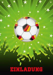 einladungen zur fussball-party - einladungskarten-set zum