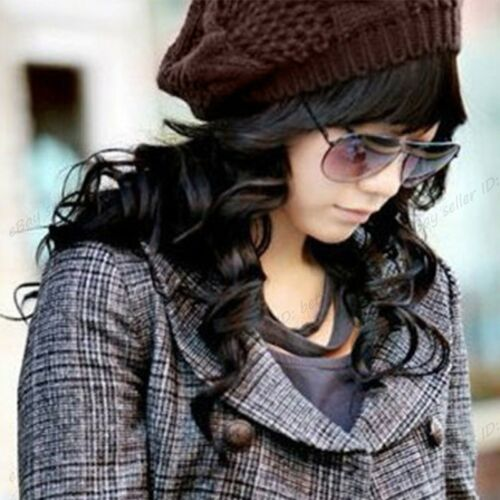 Fashion Pour Femme Hiver Chaud Tricot Crochet Ski chapeau tressé Baggy Beret Beanie Cap