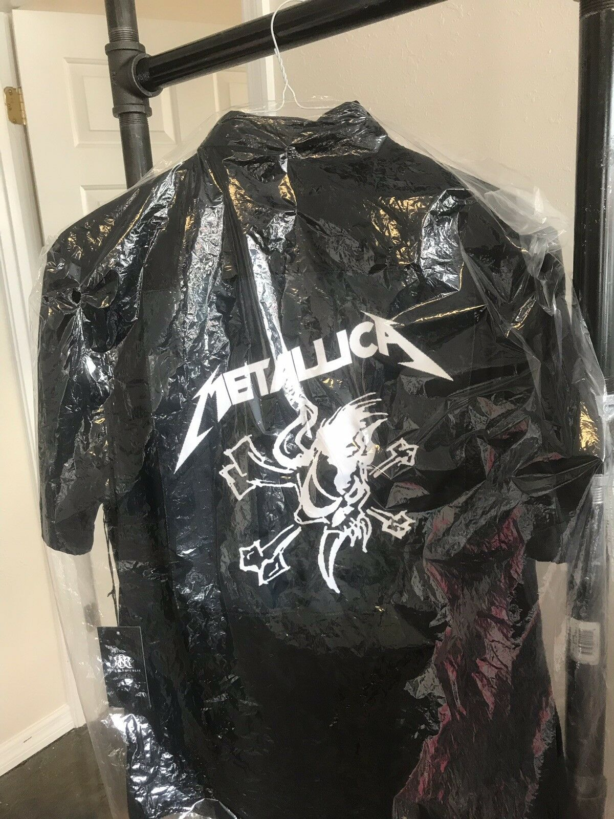 Metallica SCARY GUY bones button down shirt L  Herren