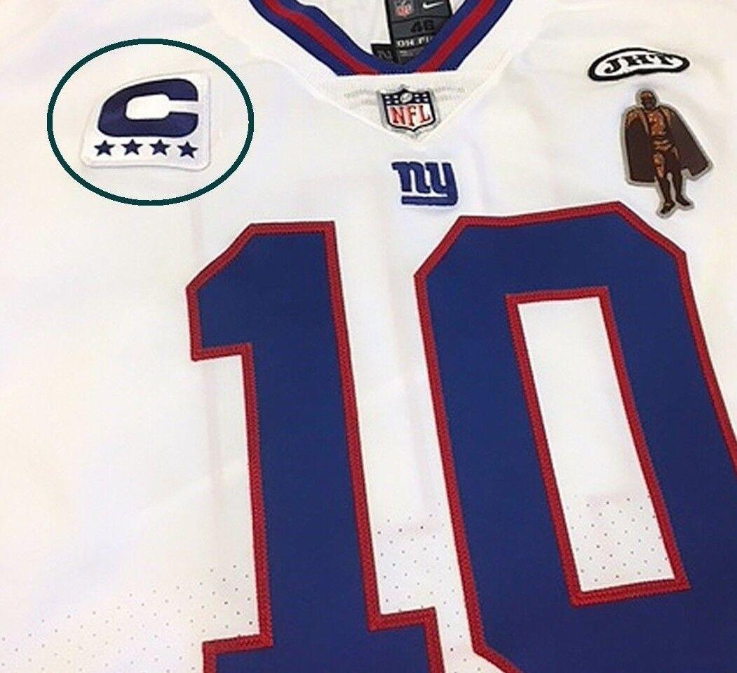 a19f2a62 NFL 2017 SEASON NY GIANTS #10 QB Eli Manning 4⭐CAPTAIN COLOR RUSH Iron-on  PATCH | eBay
