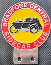 RARE BRADFORD CENTRALE Sidecar Club Vintage Badge VESPA BMW AJS Triumph BSA vendita
