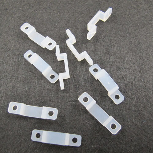 100PCS 12mm Silicon Clip for Fixing 5630 5050 RGB /& Single Color LED Strip  TOCA