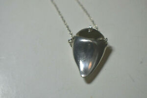 Tiffany-amp-Co-Locket-4-Baby-039-s-1st-Tooth-Shark-Tooth-Shape-25-034-Necklace1970-039-s
