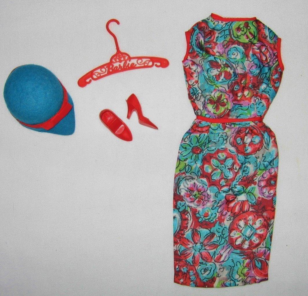 Vintage Mod Barbie Exposición de Arte al Aire Libre Completo Casi Nuevo Cerrado Toe Tacones Rojo
