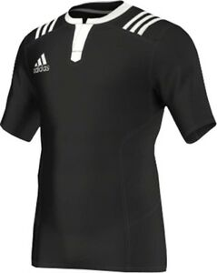 Adidas 3 Stripes Fitted Rugby Jersey Mens Shirt White
