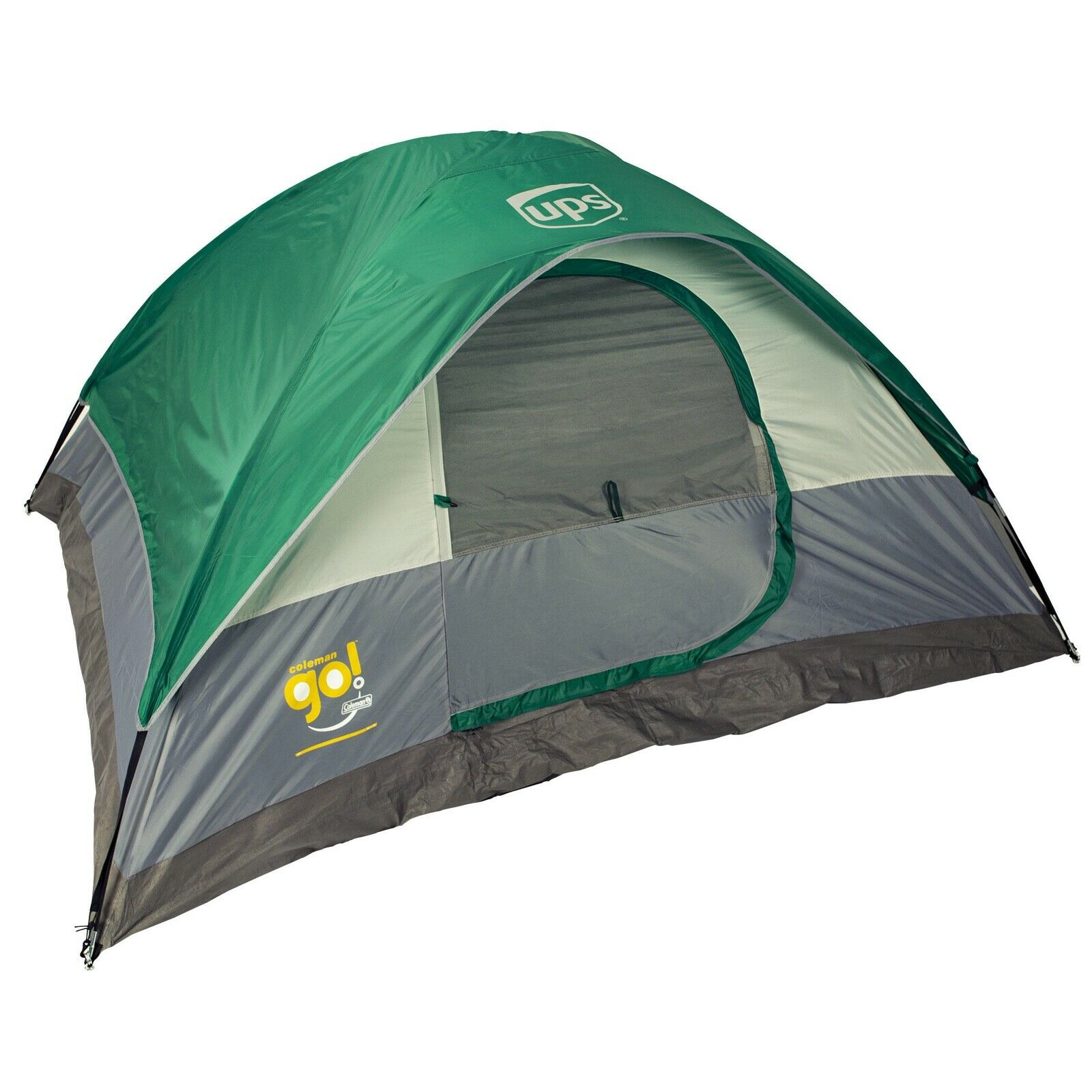 UNITED PARCEL SERVICE UPS COLEMAN GREEN WATERPROOF 4 PERSON SLEEPING TENT + BAG