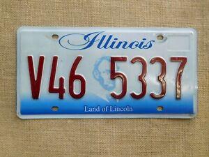 American-number-licence-plate-Illinois-embossed-vintage-old-car-genuine-USA