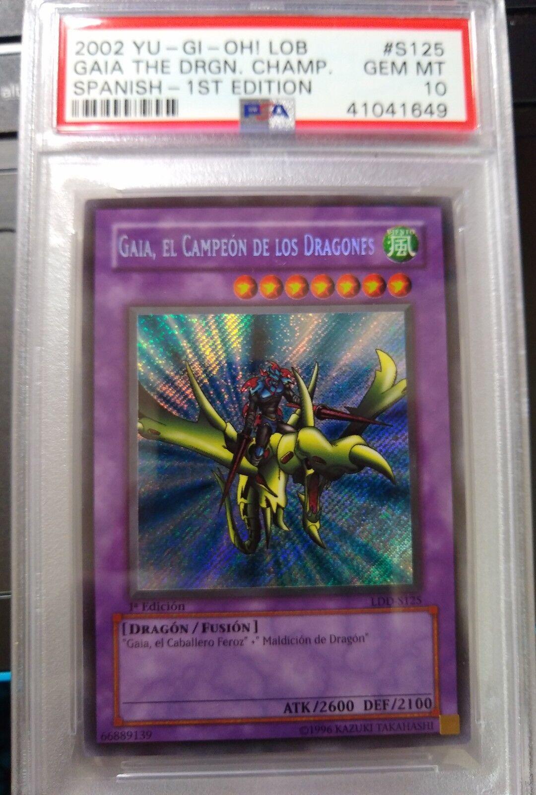 Yugioh Flame Swordsman LOB LDD-S003 Ultra 1st SPANISH PSA 9 Mint