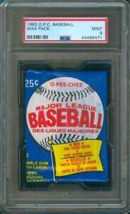 1983-O-Pee-Chee-BASEBALL-Original-Unopened-Wax-Pack-PSA-9-Gwynn-Sandberg-RC-Year
