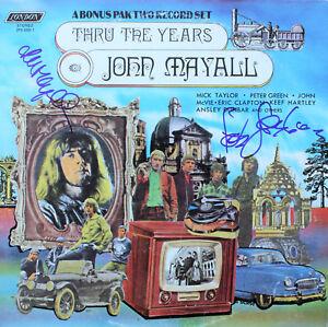 JOHN-MAYALL-amp-PETER-GREEN-Signed-Bluesbreakers-Vinyl-Record-FLEETWOOD-MAC