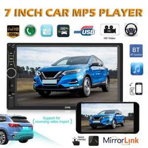 7-039-039-Autoradio-Stereo-Touchscreen-Doppel-2Din-Bluetooth-MP5-AUX-FM-Radio-In-Dash