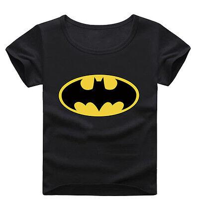 Children T Shirt Batman Cartoon Print Cotton Short Sleeve T-Shirts For Boys Kids