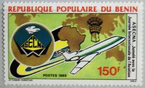 Benin 1985 416 602 Asecna Airlines Airplane Flugzeuge World Map Weltkarte Mnh Ein GefüHl Der Leichtigkeit Und Energie Erzeugen Benin Afrika