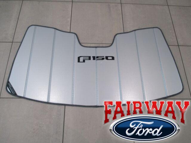 Buy OEM 2015-2018 Ford F150 Premium Windshield Sunshade Logo Storage ... 4fc82a951dc